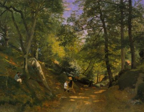 Summer Landscape at Fontainebleau 1876 | Oscar Torna | Oil Painting