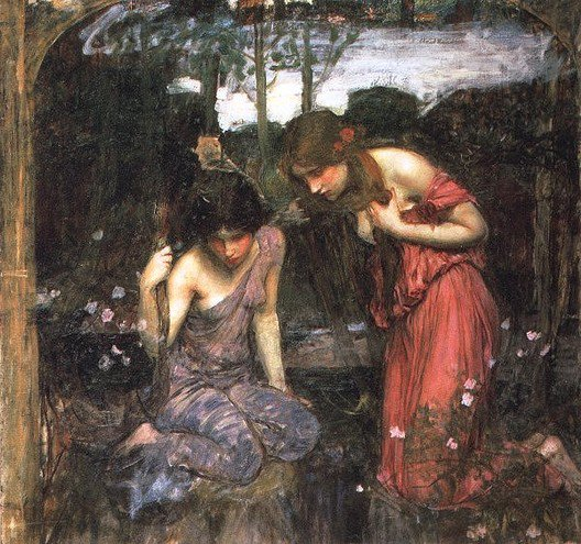 Nymphs Finding The Head Of Orpheus Study | John William Waterhouse | Oil Painting