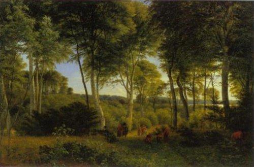 Delhoved Wood near Lake Skarre 1847 | P.C.Skovgaard | Oil Painting