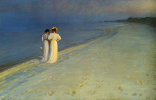 Summer Evening on the South Beach at Skagen 1893 | P.S.Kroyer | Oil Painting