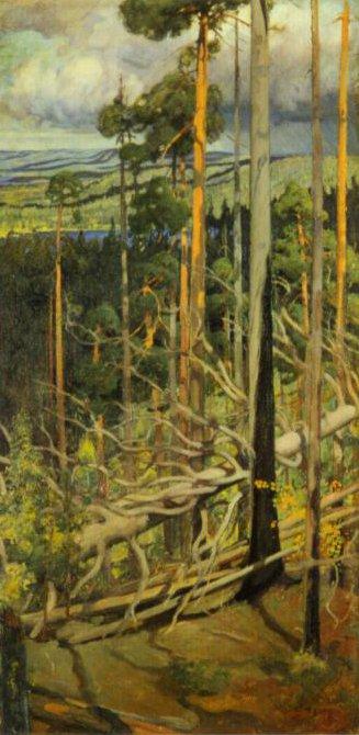 Wilderness 1899 | Pekka Halonen | Oil Painting