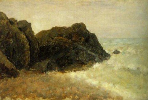Coastal motif Carolles Mormandy 1885 | Per Ekstrom | Oil Painting