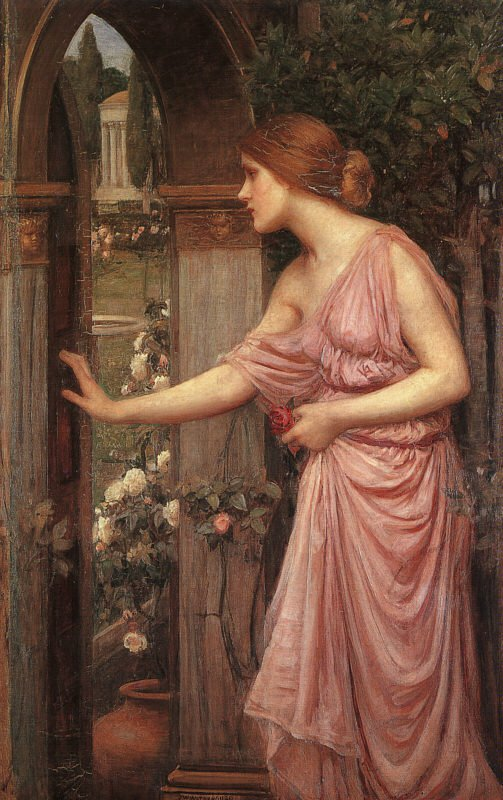Psyche Entering Cupids Garden | John William Waterhouse | Oil Painting