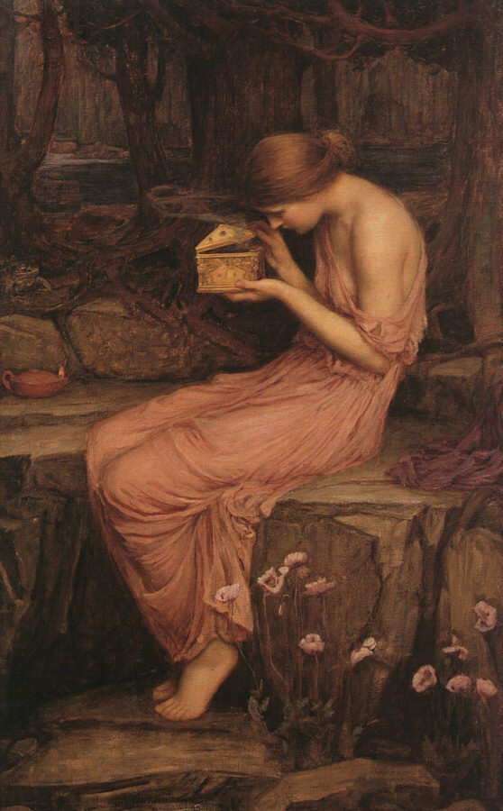 Psyche Opening The Golden Box | John William Waterhouse | Oil Painting