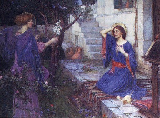 The Annunciation | John William Waterhouse | Oil Painting