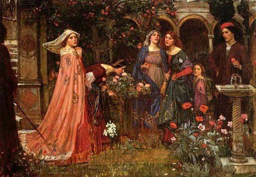 The Enchanted Garden | John William Waterhouse | Oil Painting