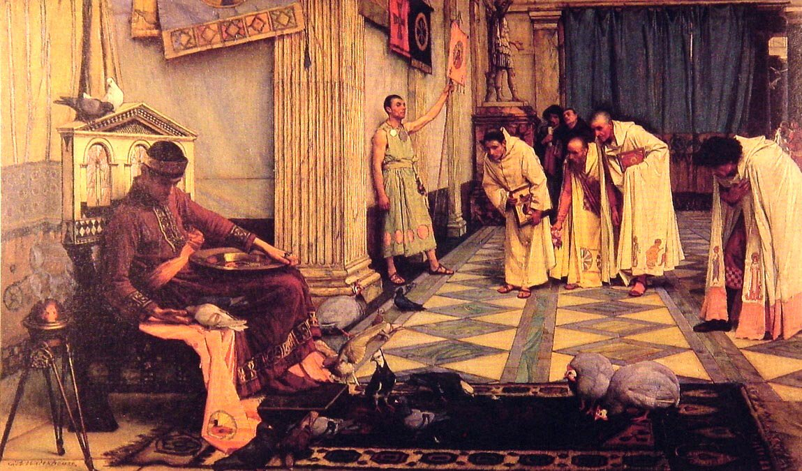 The Favourites Of The Emperor Honorious | John William Waterhouse | Oil Painting