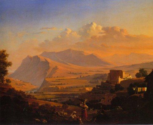 Landscape from Subiaco 1844 | Robert Wilhelm Ekman | Oil Painting