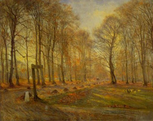 Autumn in Dyrehaven 1886 | Theodor Philipsen | Oil Painting