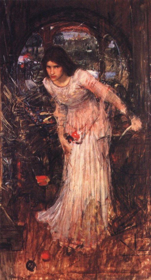 The Lady Of Shalott Study | John William Waterhouse | Oil Painting