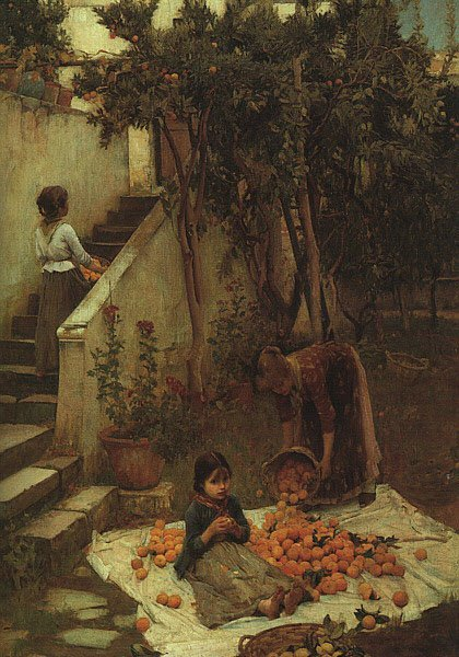 The Orange Gatherers | John William Waterhouse | Oil Painting