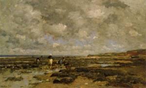 Mussel pickers at Villerville 1876 8 | Wilhelm von Gegerfelt | Oil Painting