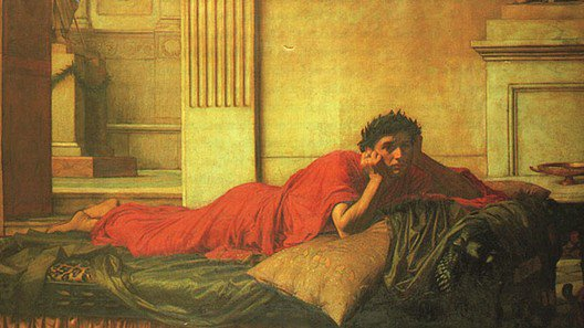 The Remorse Of Nero After The Murdering Of His Mother | John William Waterhouse | Oil Painting