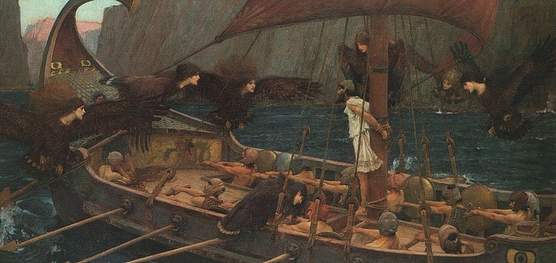 Ulysses And The Sirens | John William Waterhouse | Oil Painting