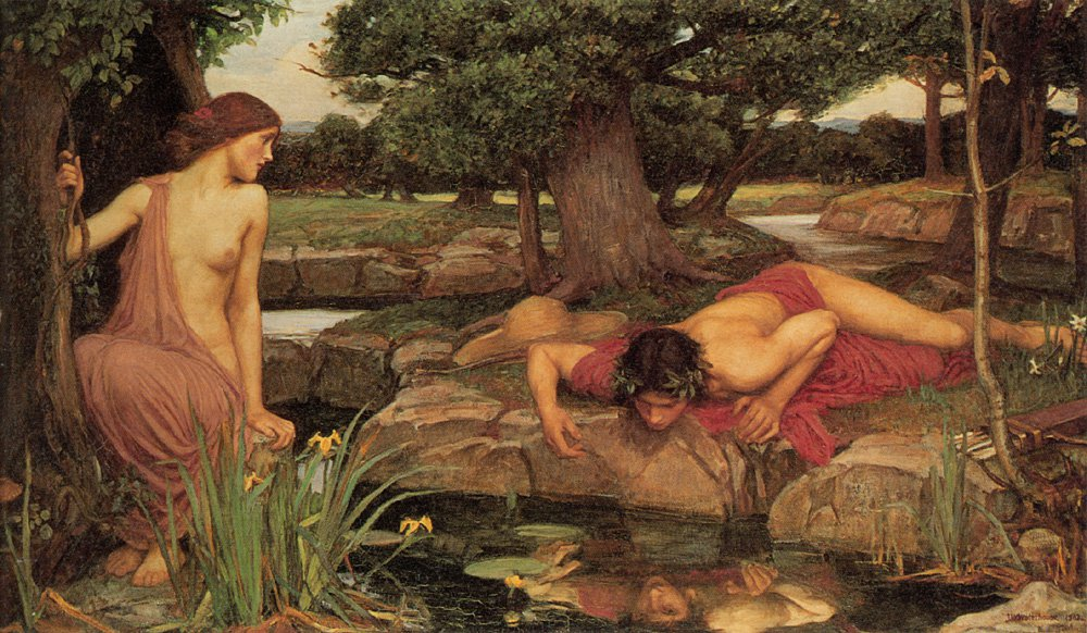 Echo And Narcissus | John William Waterhouse | Oil Painting