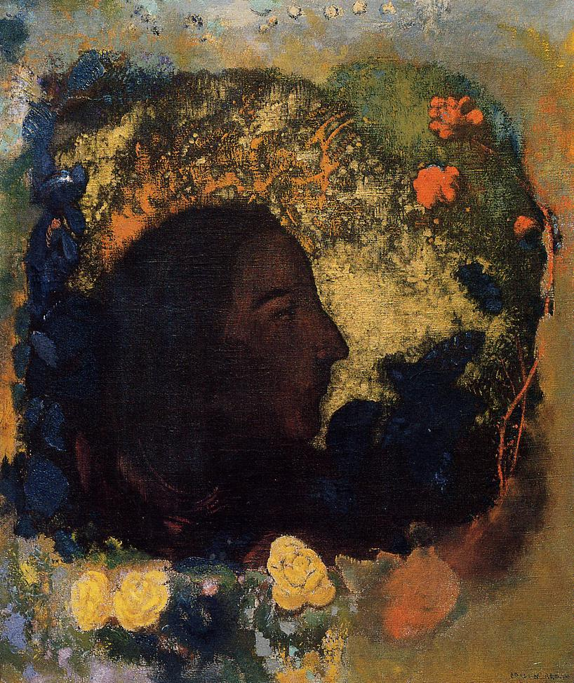 Black Profile (aka Gauguin) 1906 | Odilon Redon | Oil Painting