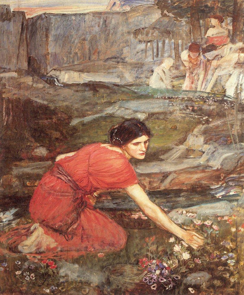 Maidens Picking (Study) | John William Waterhouse | Oil Painting