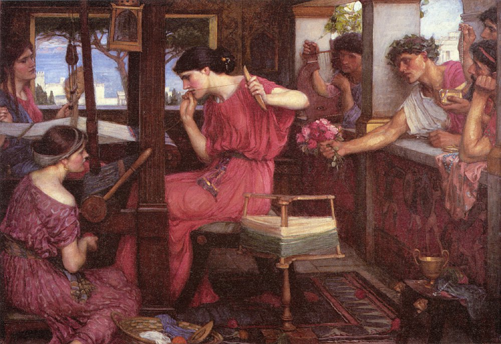 Penelope And The Suitors | John William Waterhouse | Oil Painting