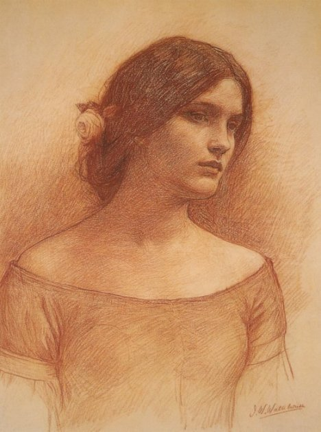 Study for the Lady Clare | John William Waterhouse | Oil Painting