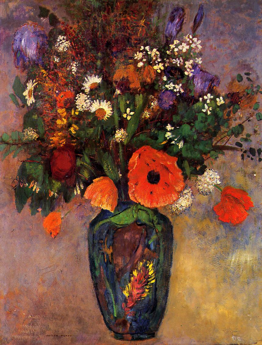 Bouquet of Flowers on a Vase | Odilon Redon | Oil Painting