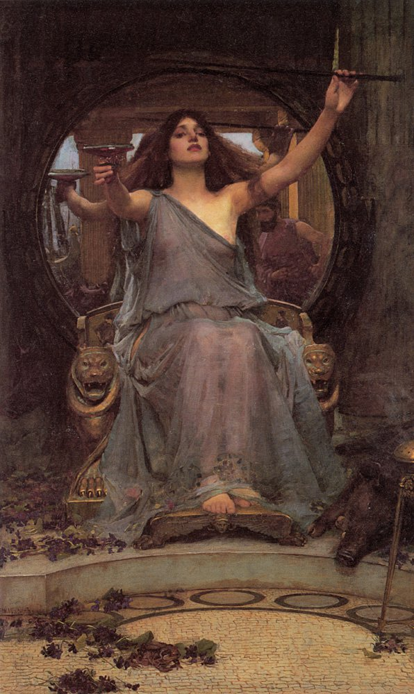 Circe Offering The Cup To Ulysses | John William Waterhouse | Oil Painting