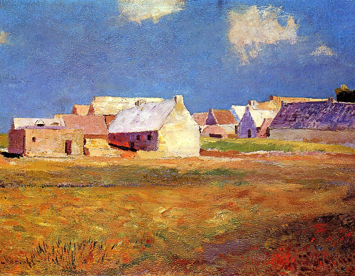 Breton Village 1890 | Odilon Redon | Oil Painting