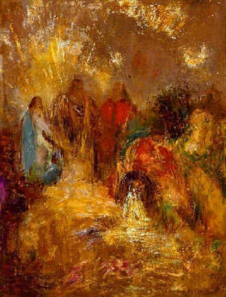 Christ and His Desciples | Odilon Redon | Oil Painting
