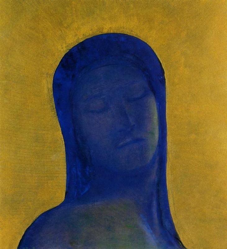 Closed Eyes 2 1890-1899 | Odilon Redon | Oil Painting