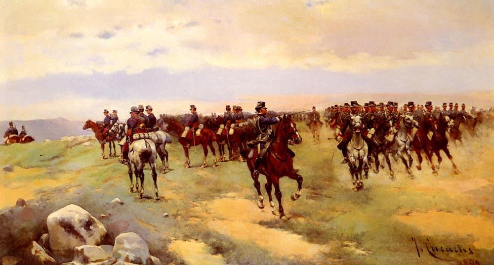Soldier On Horseback | Jose Cusachs Y Cusachs | Oil Painting