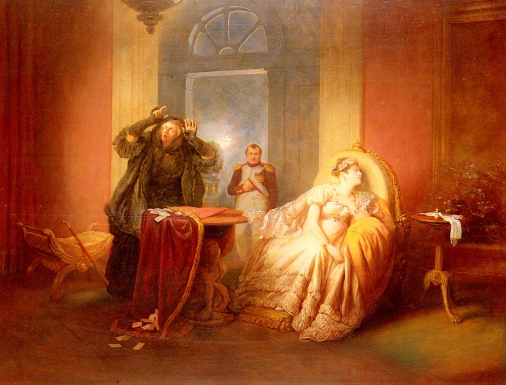 Napoleon Et Josephine Avec La Cartomancienne | Josef Danhause | Oil Painting