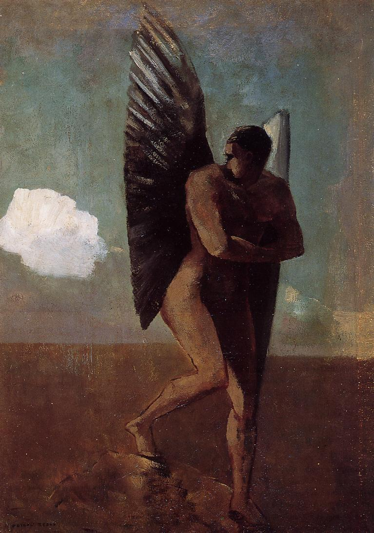 Fallen Angel Looking at at Cloud 1875 | Odilon Redon | Oil Painting