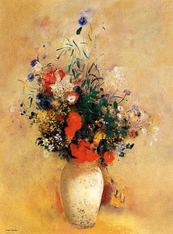 Flowers in a Chinese Base 1910 | Odilon Redon | Oil Painting