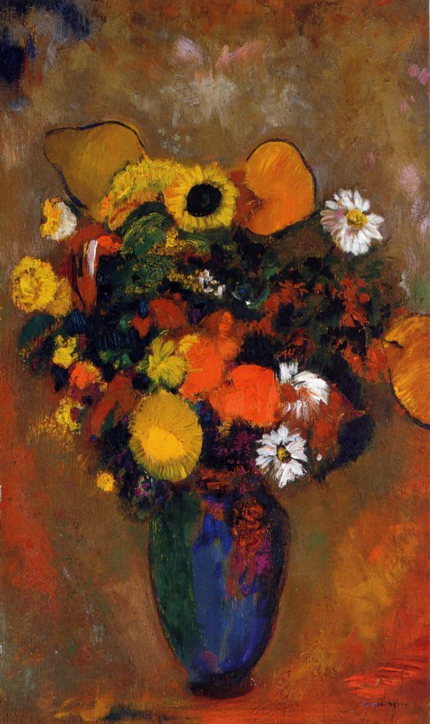 Flowers in a Green Vase 1912 | Odilon Redon | Oil Painting