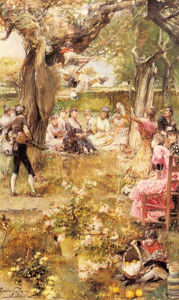 The Swing | Jose Garcia y Ramos | Oil Painting