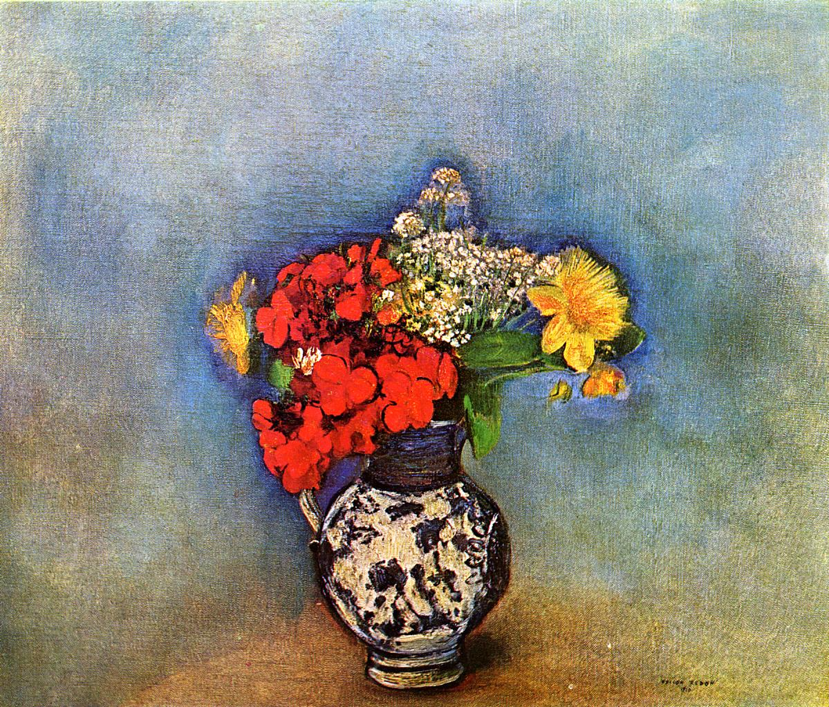 Geraniums 1910 | Odilon Redon | Oil Painting