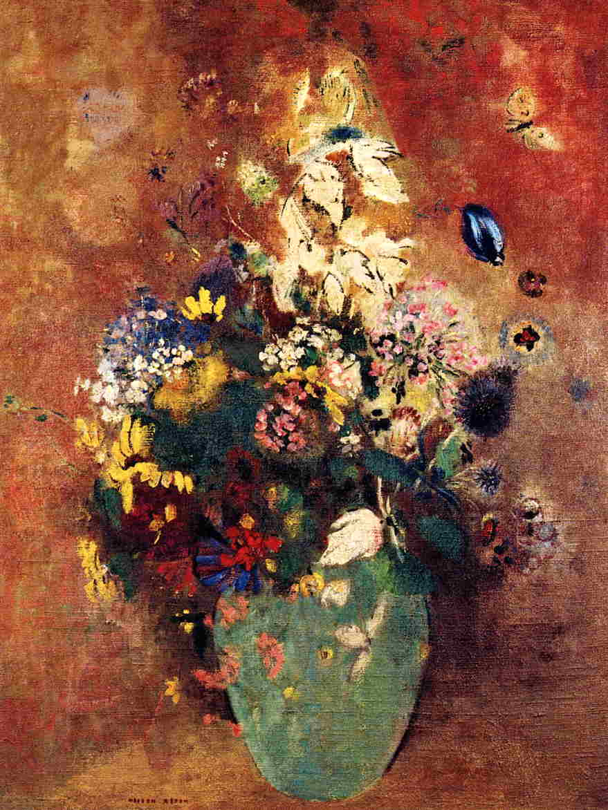 Green Vase | Odilon Redon | Oil Painting