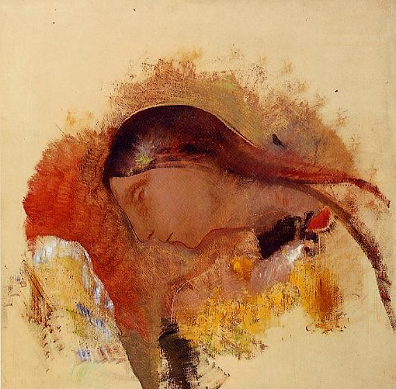 Head of a Sleeping Woman 1905 | Odilon Redon | Oil Painting