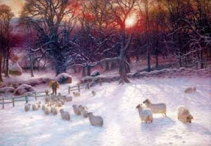 The shortening winters day is near a close | Joseph Farquharson | Oil Painting
