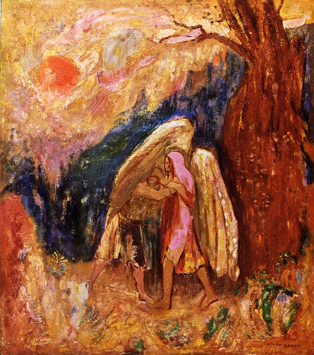 Jacob Wrestling with the Angel 1905 | Odilon Redon | Oil Painting