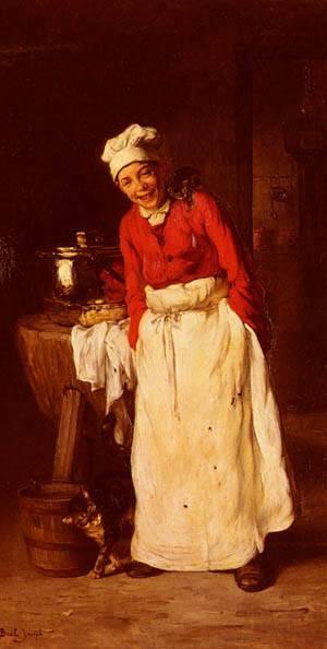 La Petit Cuisinier | Joseph Bail | Oil Painting