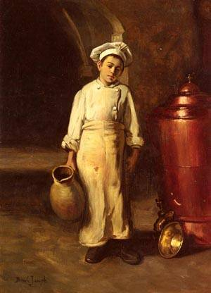 The Cooks Helper | Joseph Bail | Oil Painting