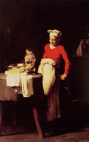 The Cook and the Pug | Joseph Bail | Oil Painting