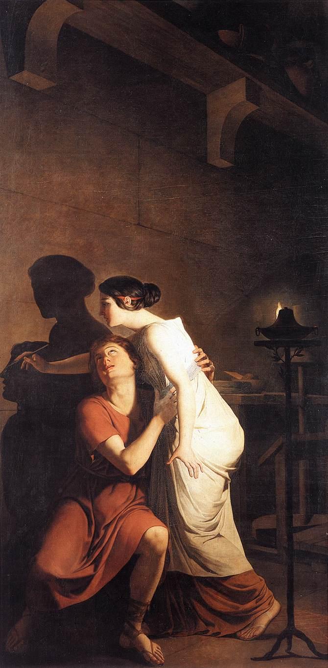 Invention of the Art of Drawing 1791 | Joseph Benoit Suvee | Oil Painting