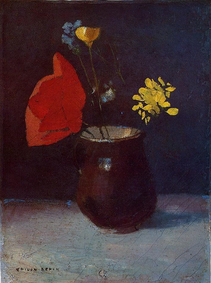 Pitcher of Flowers | Odilon Redon | Oil Painting