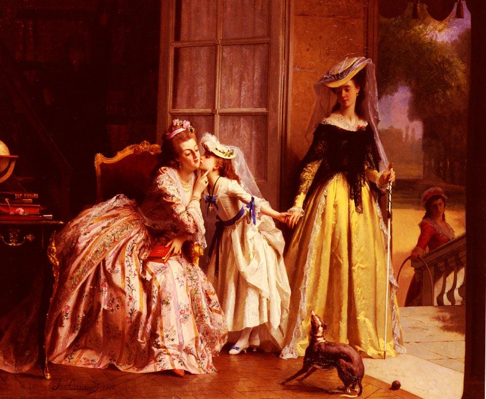 La Reine MarieAntoinette Et Sa Fille | Joseph Caraud | Oil Painting