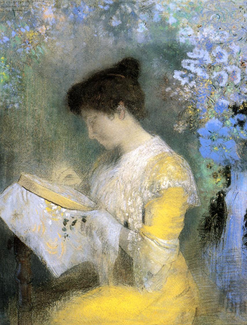 Portrait of Madame Arthur Fontaine 1901 | Odilon Redon | Oil Painting
