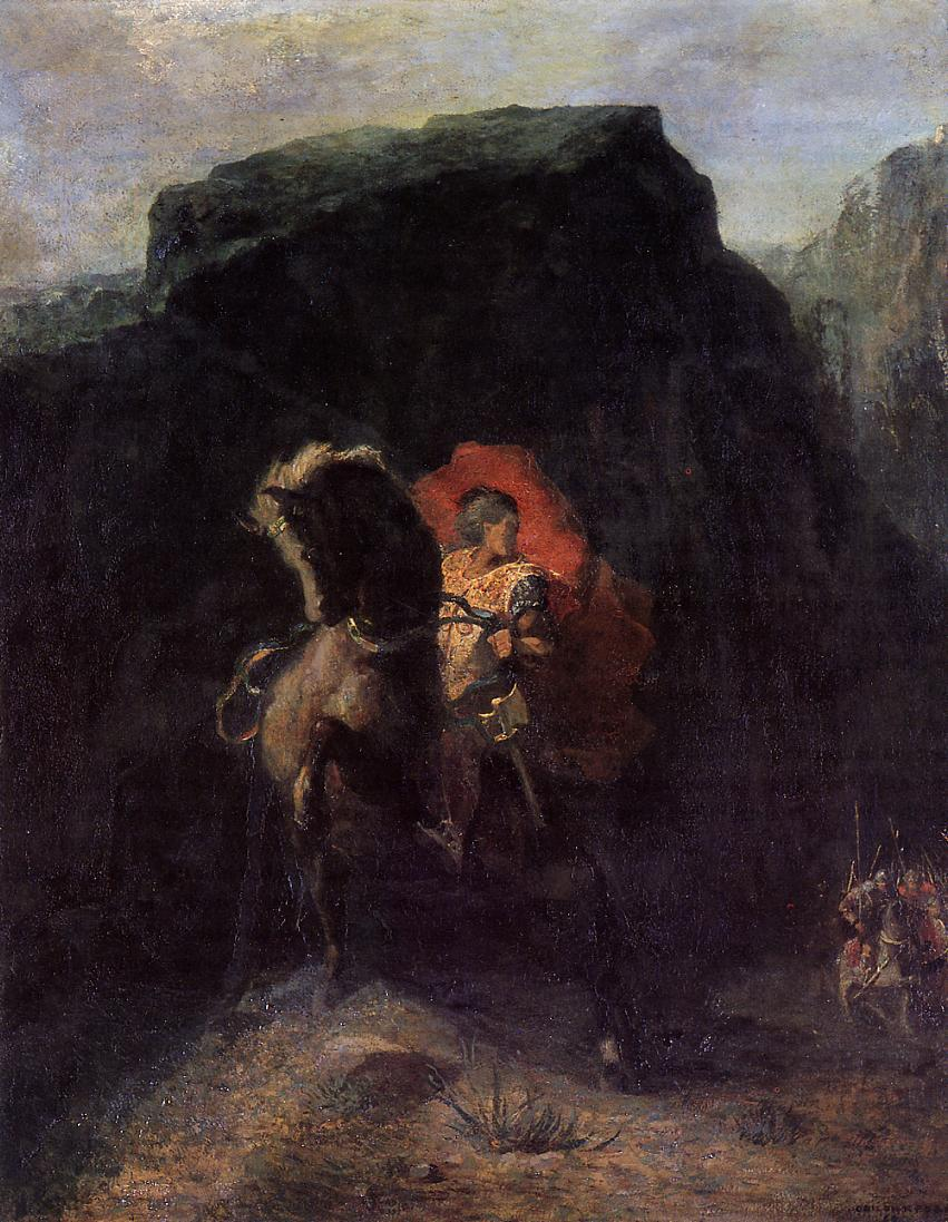 Roland at Roncevaux 1868-1869 | Odilon Redon | Oil Painting