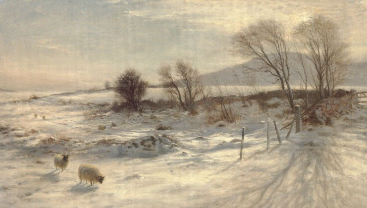 When Snow the Pasture Sheets | Joseph Farquharson | Oil Painting