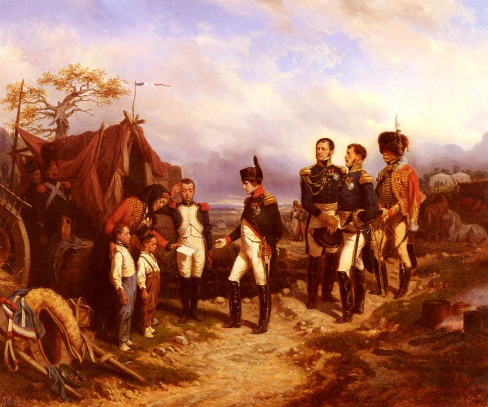 Napoleon Et Le Petit Message | Joseph Louis Hippolyte Bellange | Oil Painting
