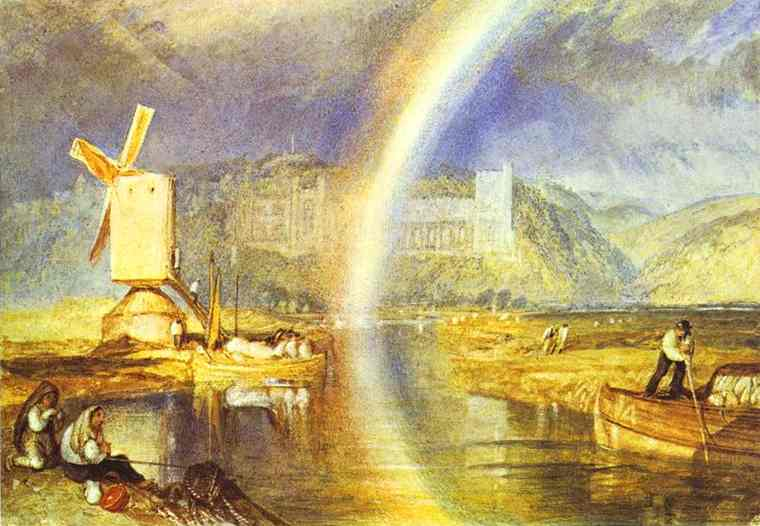 Arundel Castle With Rainbow 1824 | Joseph Mallord William Turner | Oil Painting